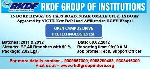 HCL Off Campus 2012