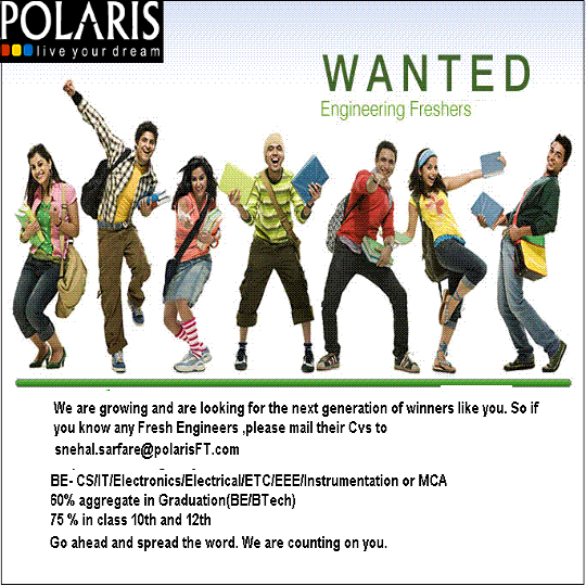Polaris Careers 2012 for Freshers