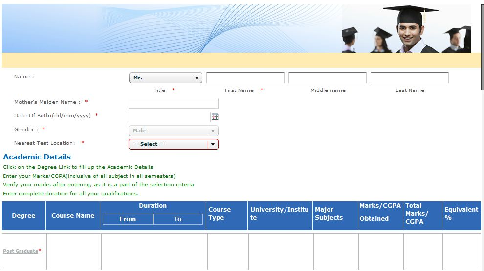 TCS Careers Registration Process Image 3