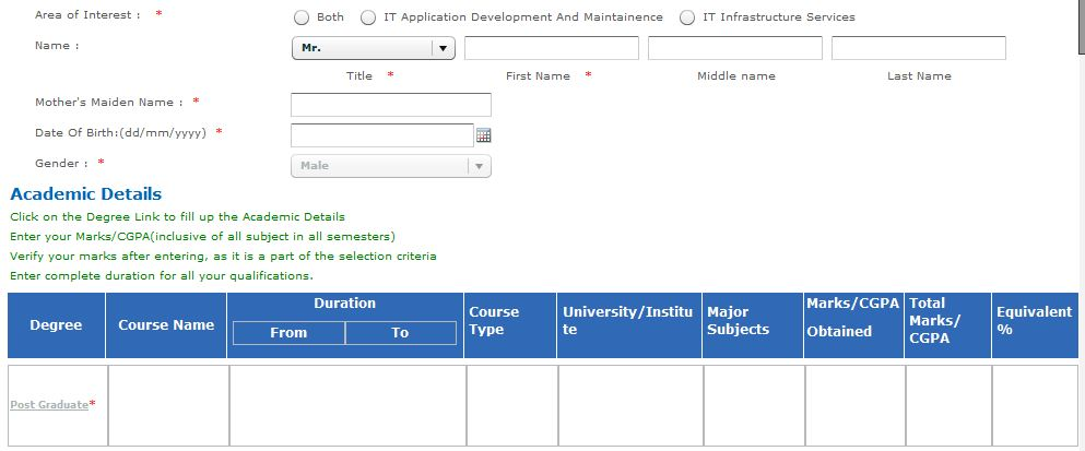 TCS Careers Registration Process Image 6