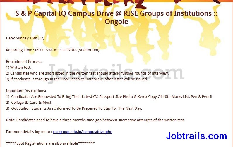 SP Capital IQ Pool Campus MBA Freshers 2012